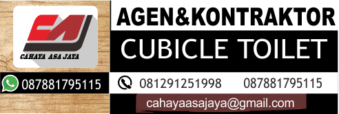supplier cubicle toilet systems tinggi & tebal